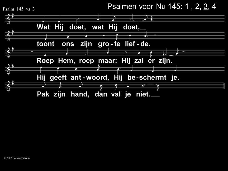 Psalmen voor Nu 145: 1 , 2, 3, 4