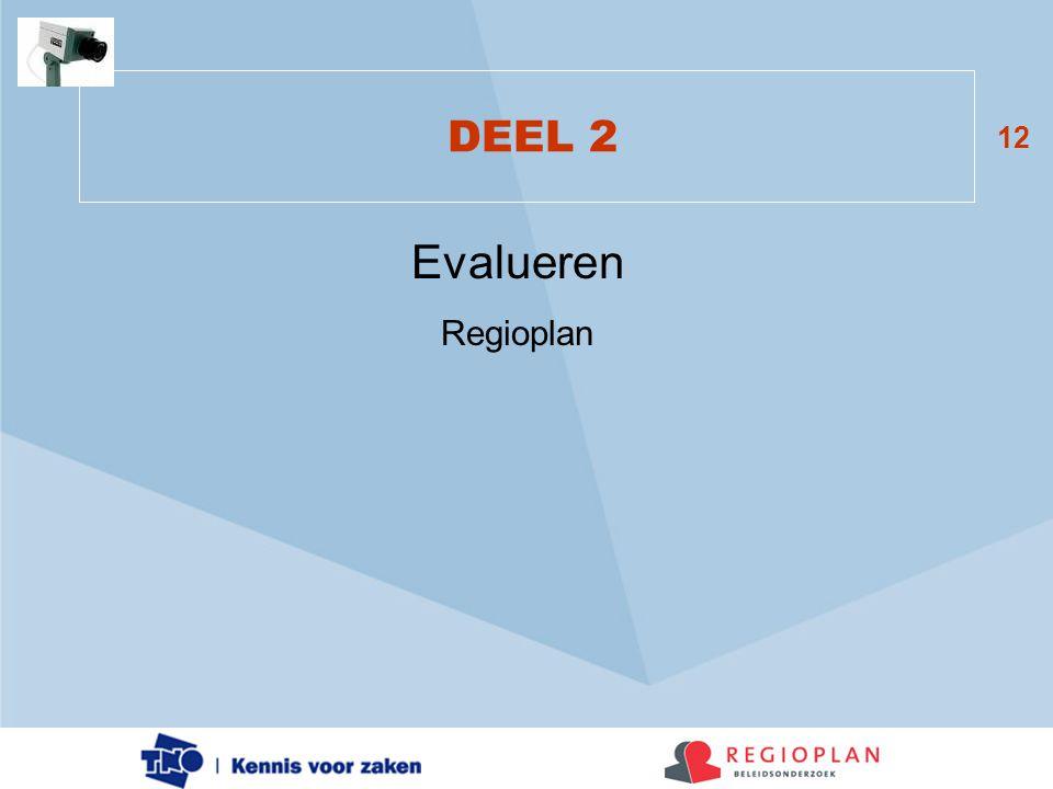 DEEL 2 Evalueren Regioplan