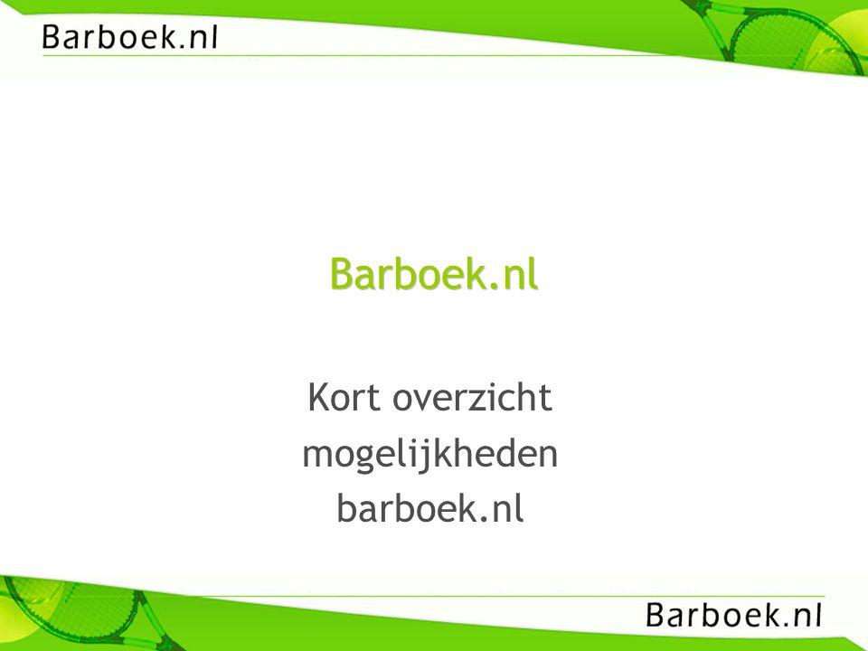 Kort overzicht mogelijkheden barboek.nl
