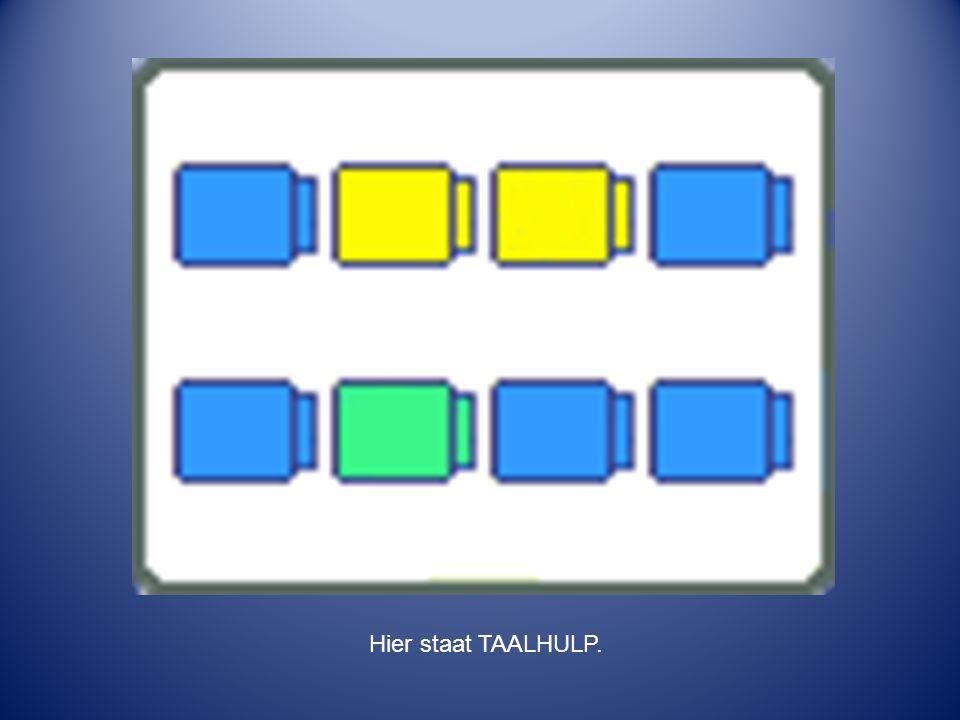 Hier staat TAALHULP. Hier staat TAALHULP.