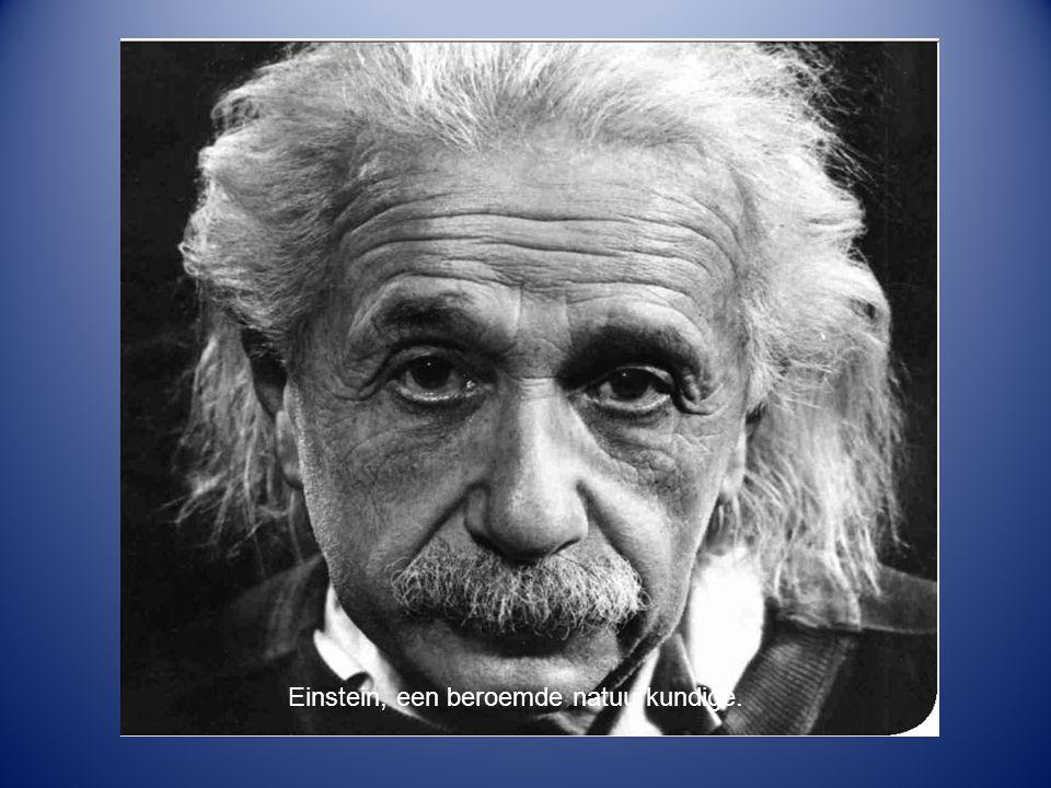 Einstein, een beroemde natuurkundige.