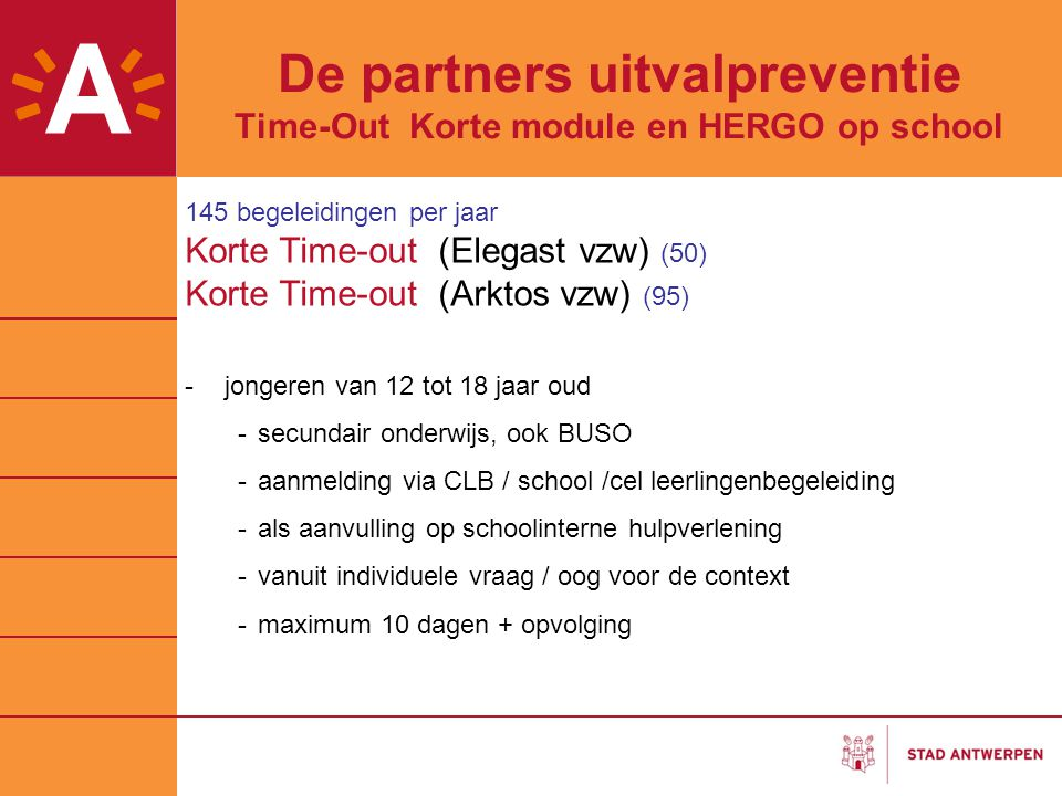 De partners uitvalpreventie Time-Out Korte module en HERGO op school