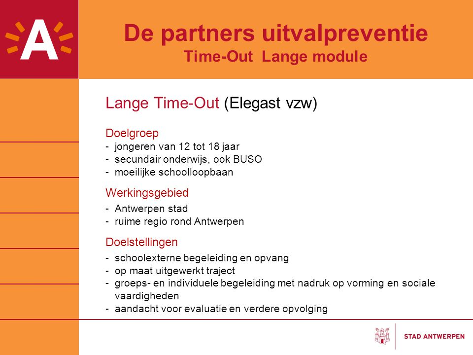 De partners uitvalpreventie Time-Out Lange module