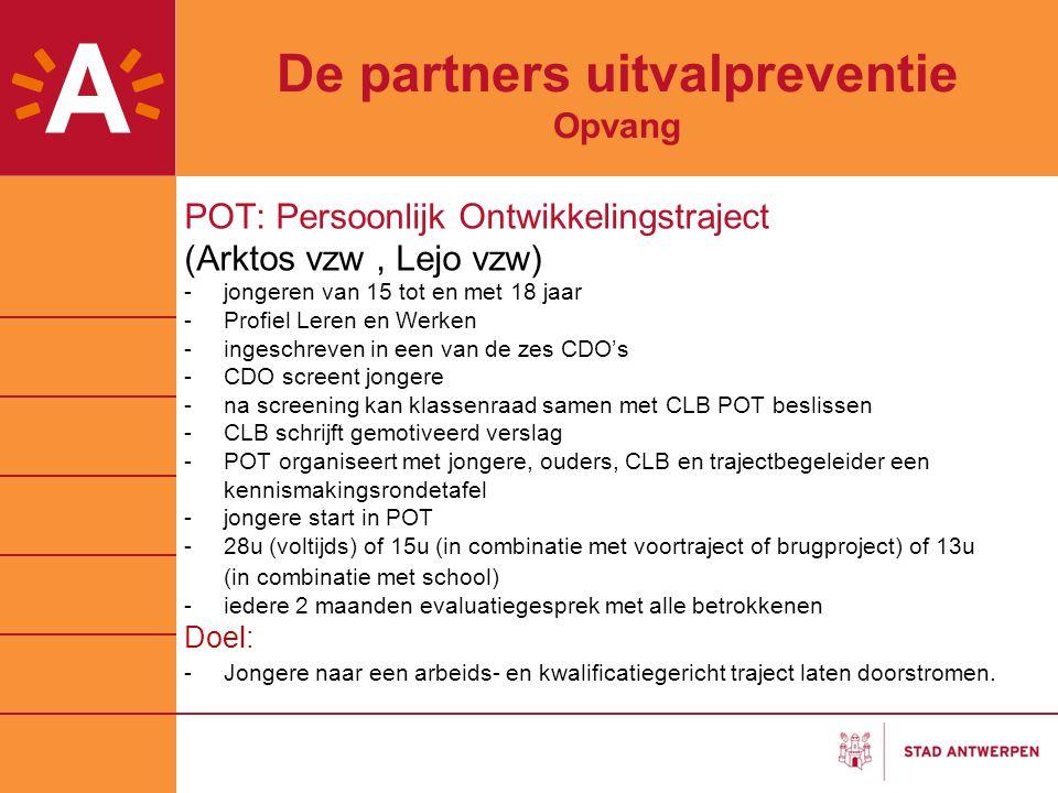 De partners uitvalpreventie Opvang