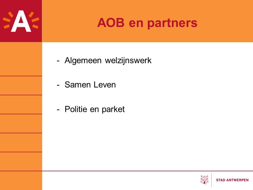 AOB en partners Algemeen welzijnswerk Samen Leven Politie en parket