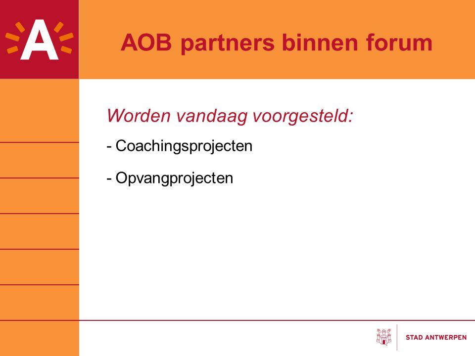 AOB partners binnen forum