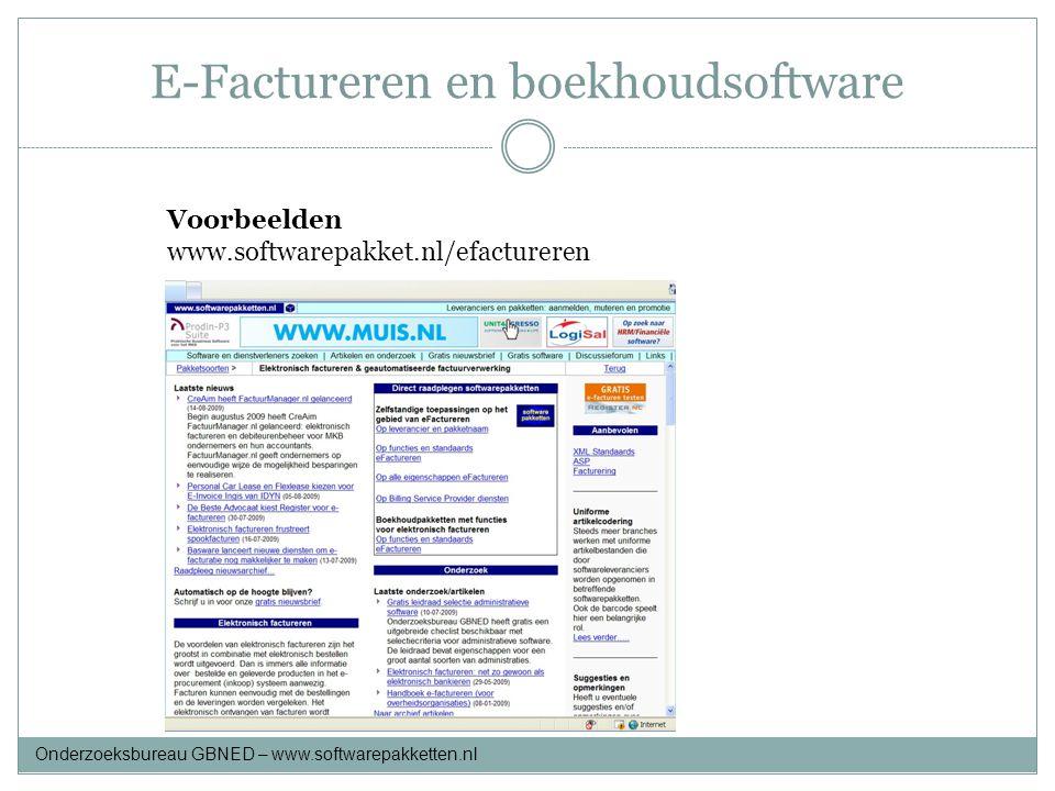 E-Factureren en boekhoudsoftware