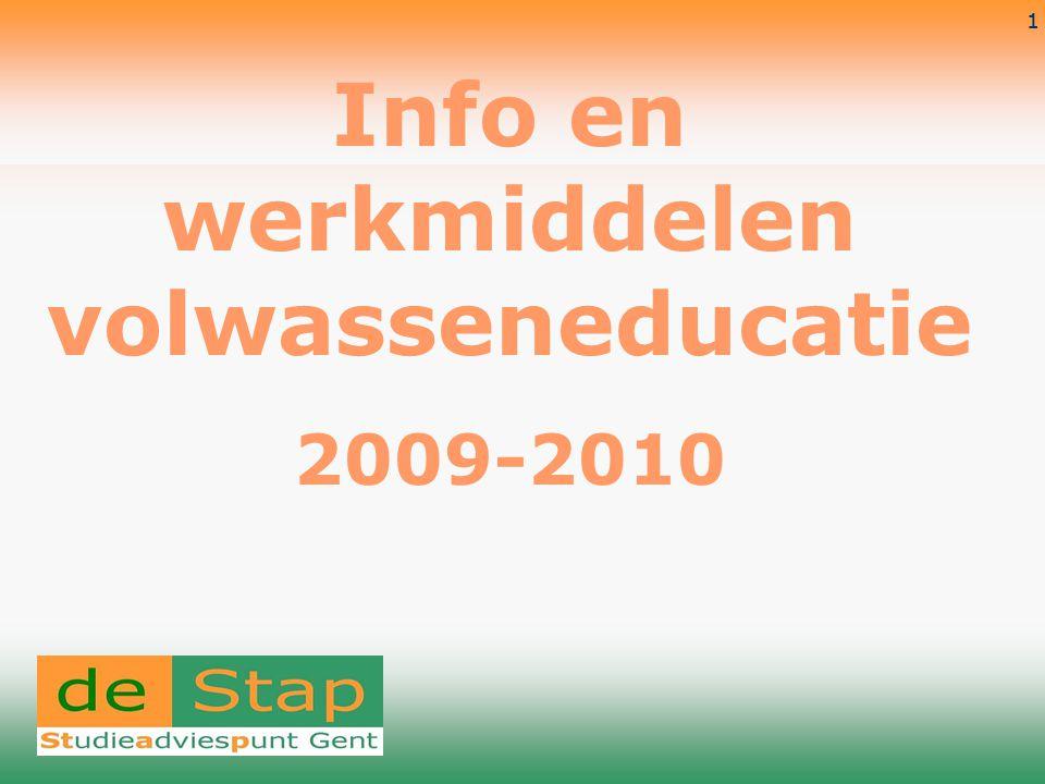 Info en werkmiddelen volwasseneducatie