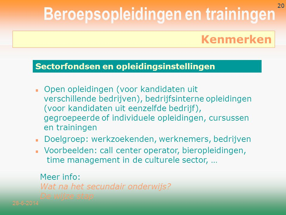 Beroepsopleidingen en trainingen
