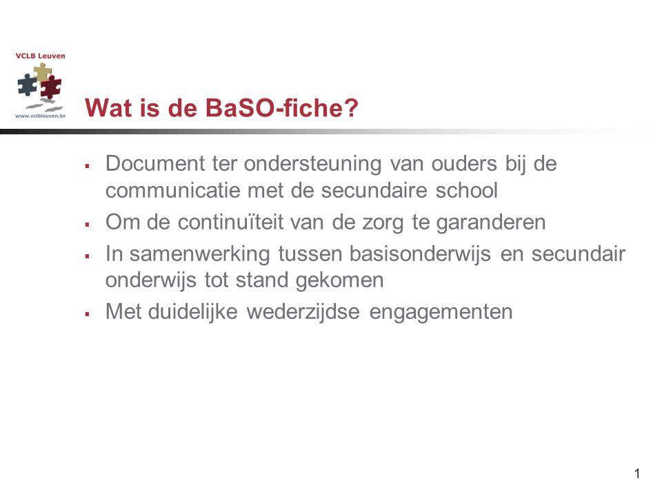 Werken met de BaSO-fiche