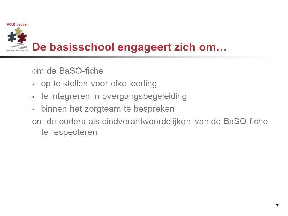 De basisschool engageert zich om…