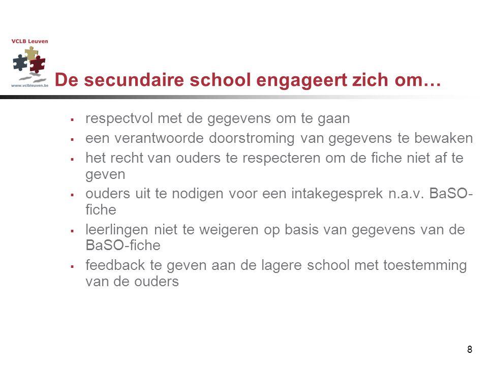 De secundaire school engageert zich om…