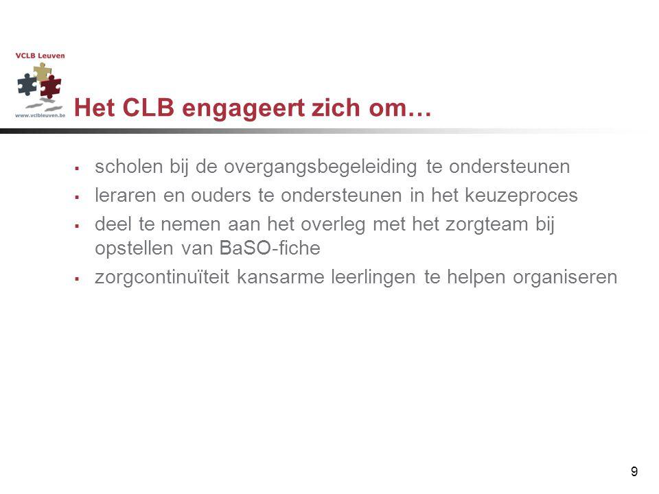 Het CLB engageert zich om…