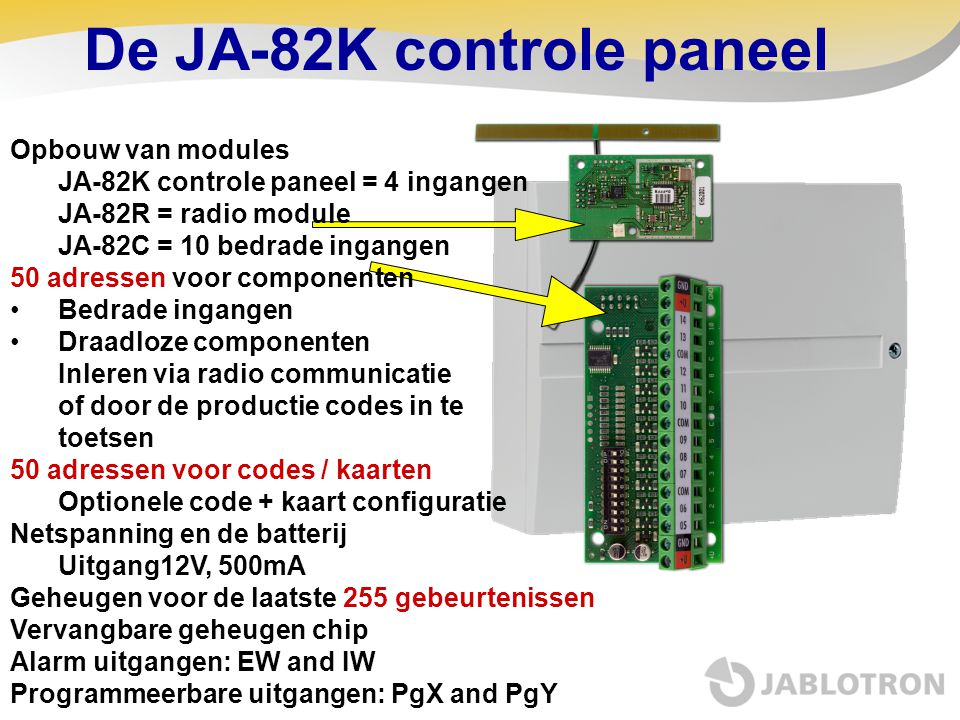 De JA-82K controle paneel