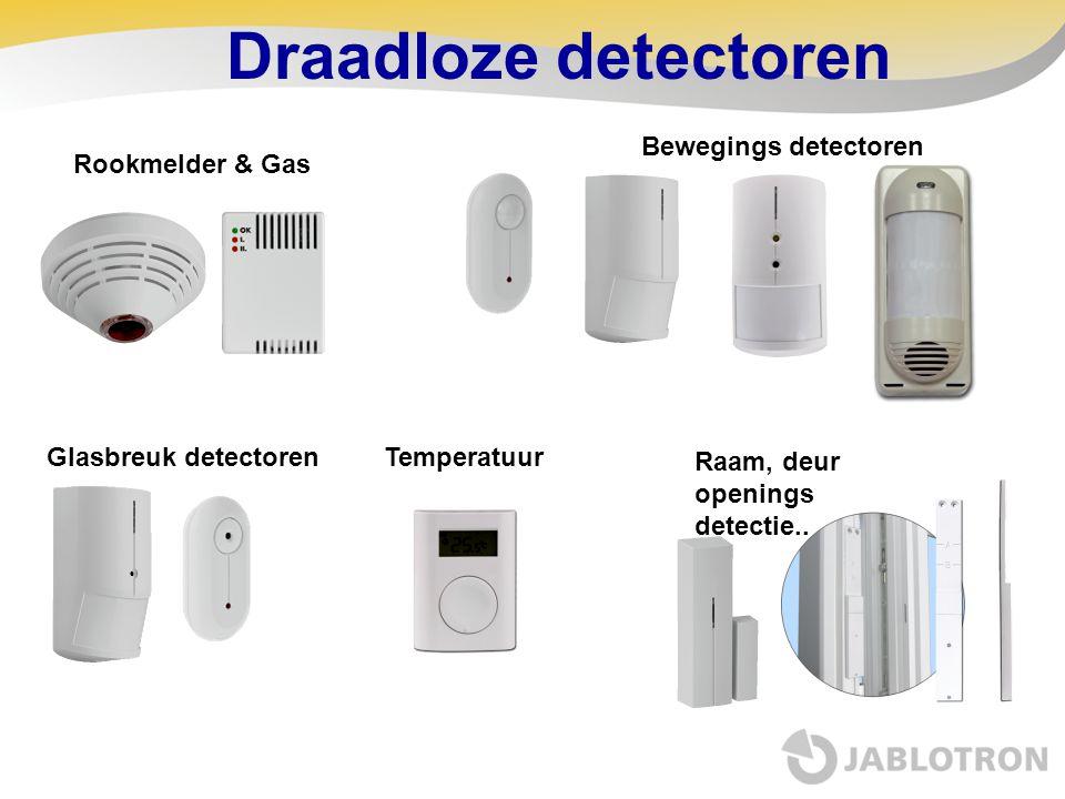 Draadloze detectoren Bewegings detectoren Rookmelder & Gas
