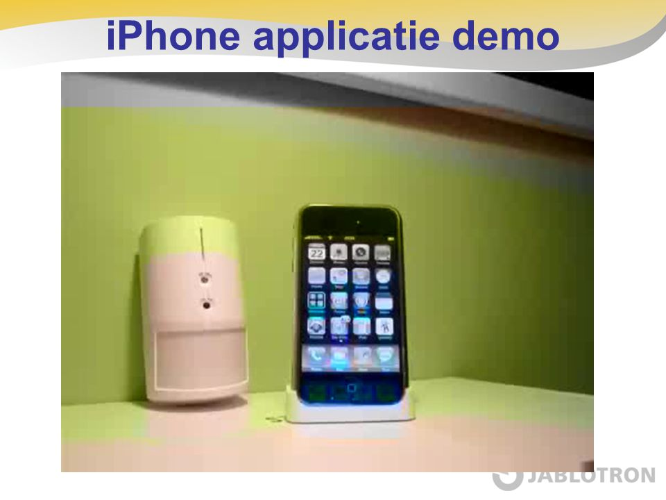 iPhone applicatie demo