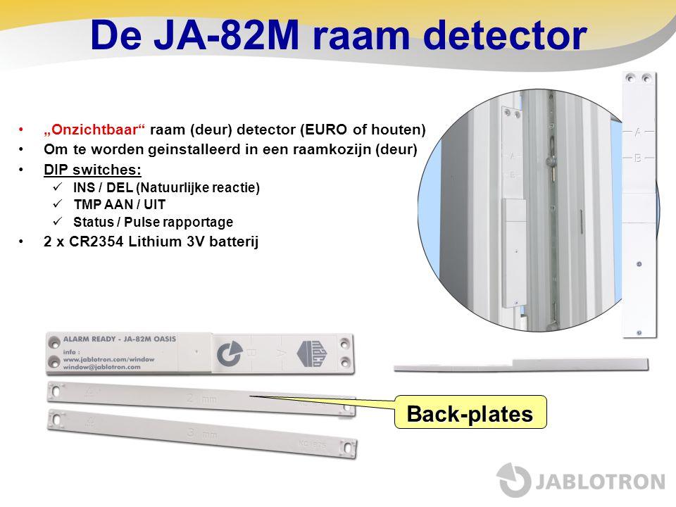 De JA-82M raam detector Back-plates