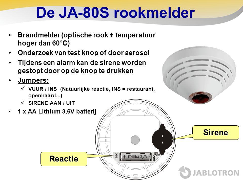De JA-80S rookmelder Sirene Reactie