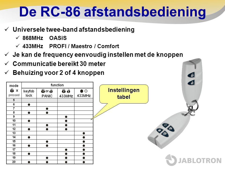 De RC-86 afstandsbediening
