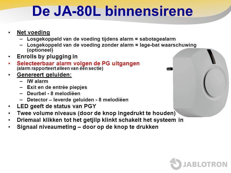 De JA-80L binnensirene Net voeding Enrolls by plugging in