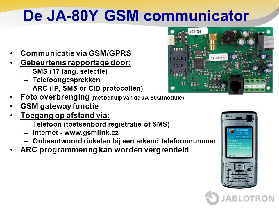 De JA-80Y GSM communicator
