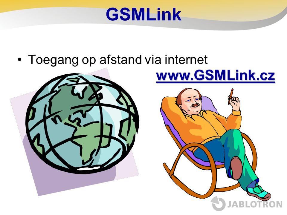 GSMLink Toegang op afstand via internet www.GSMLink.cz