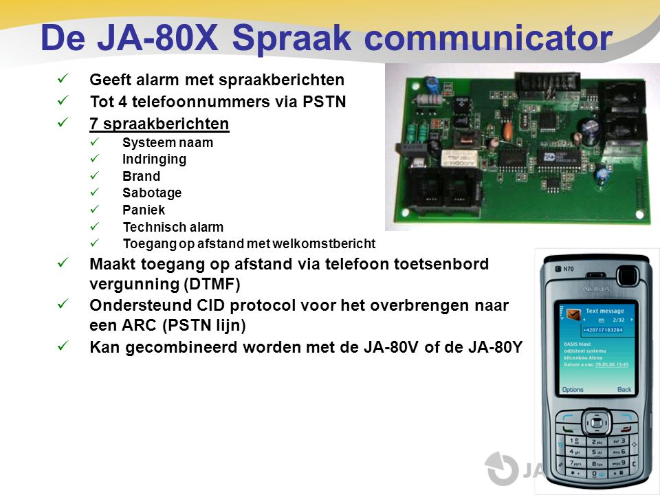 De JA-80X Spraak communicator