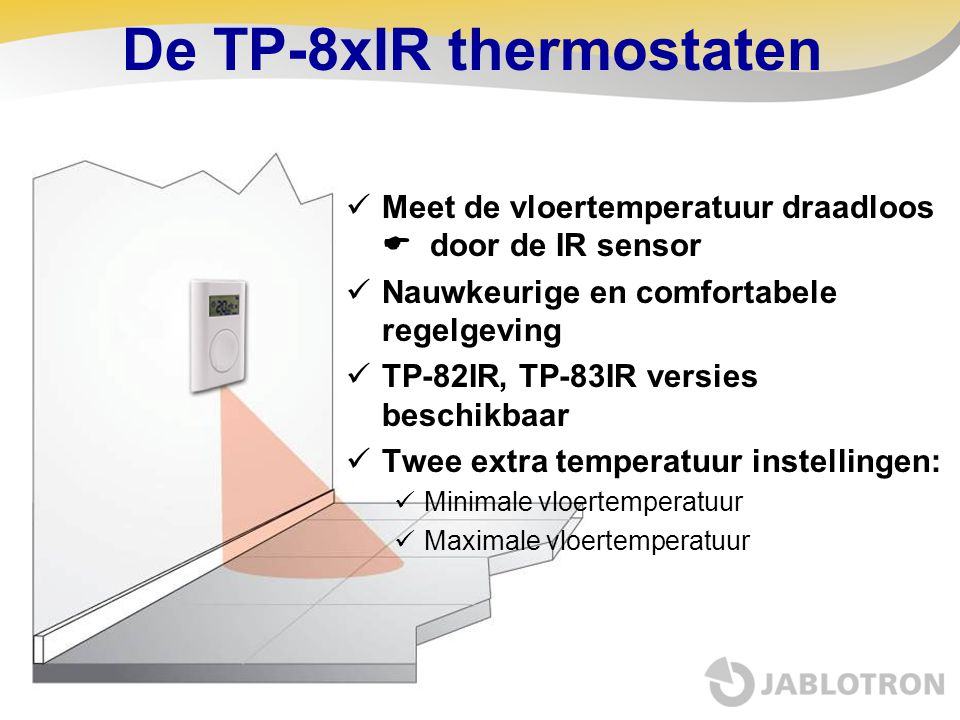 De TP-8xIR thermostaten