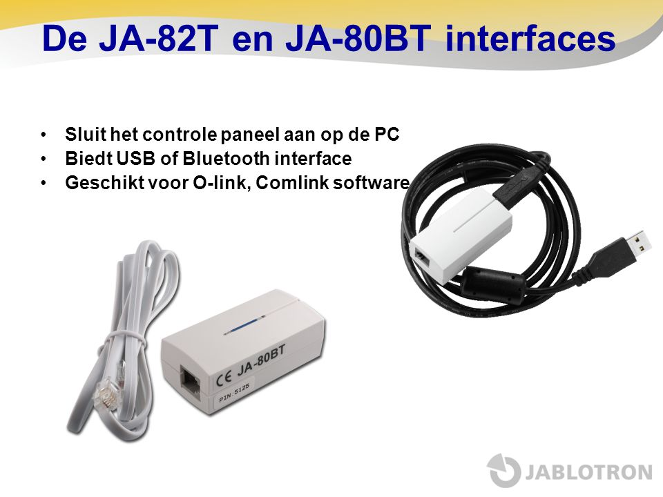 De JA-82T en JA-80BT interfaces