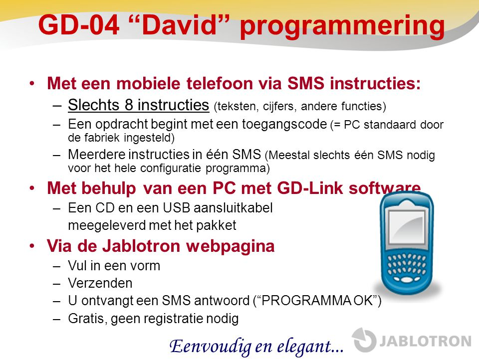 GD-04 David programmering