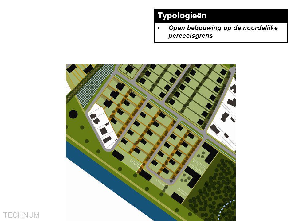 Typologieën Open bebouwing op de noordelijke perceelsgrens