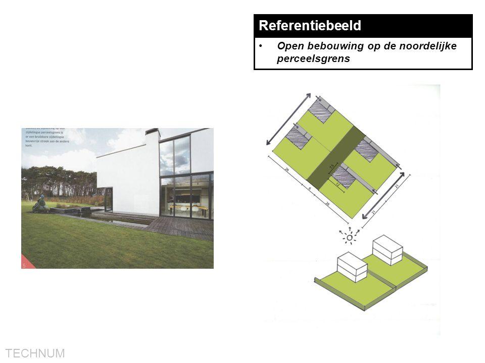 Referentiebeeld Open bebouwing op de noordelijke perceelsgrens