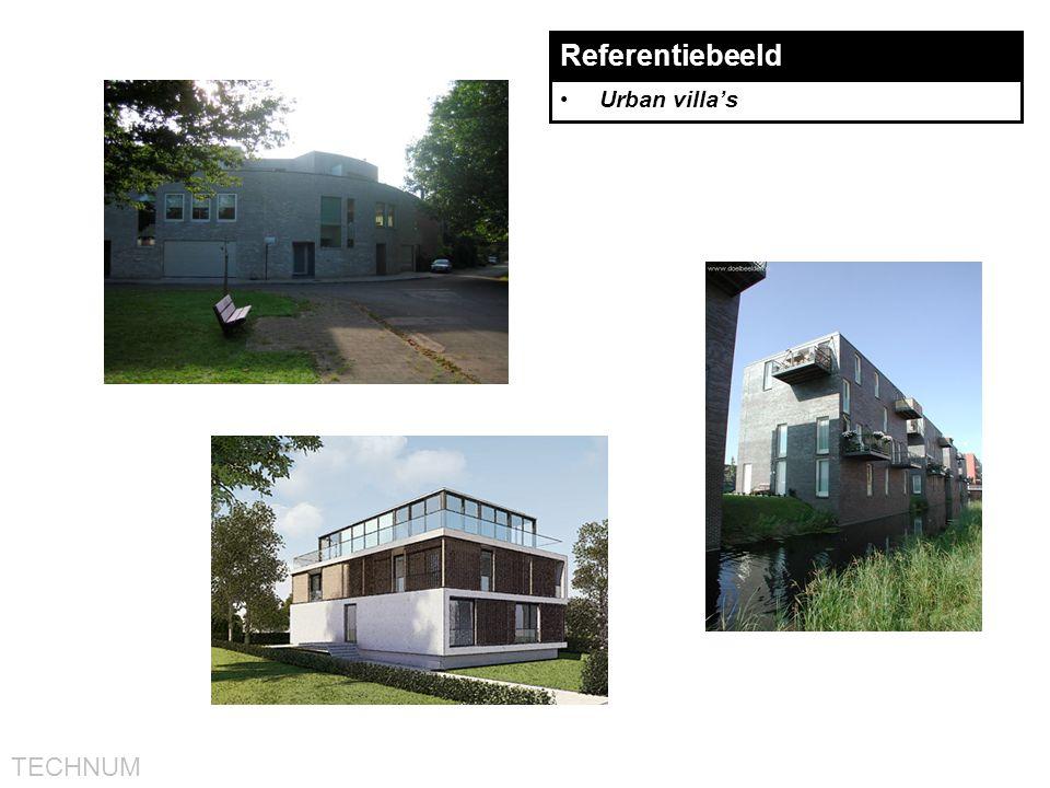 Referentiebeeld Urban villa's