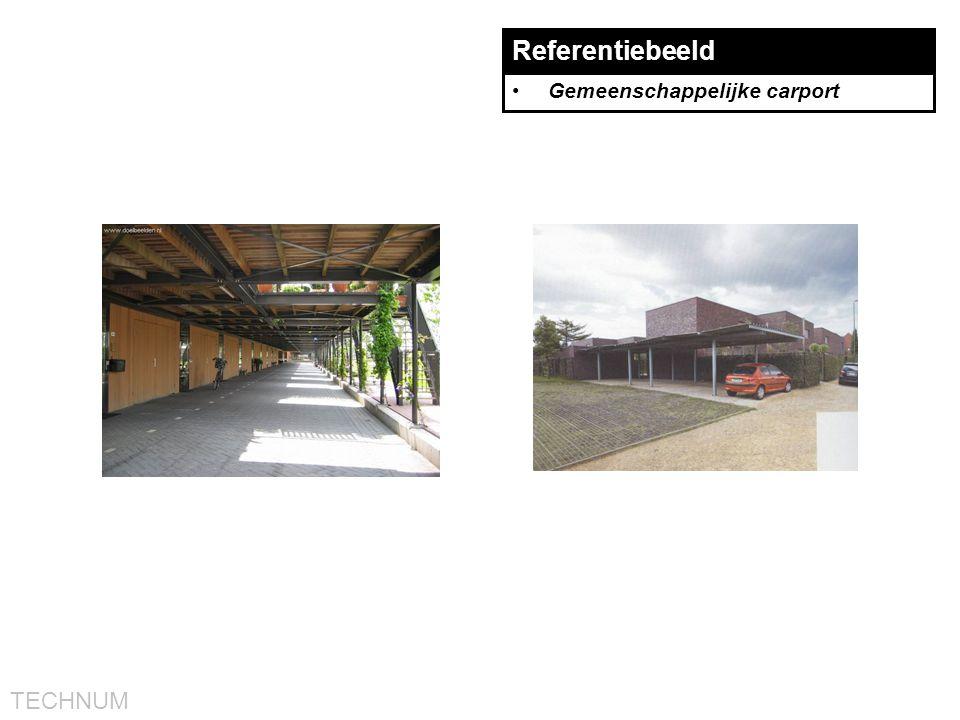 Referentiebeeld Gemeenschappelijke carport