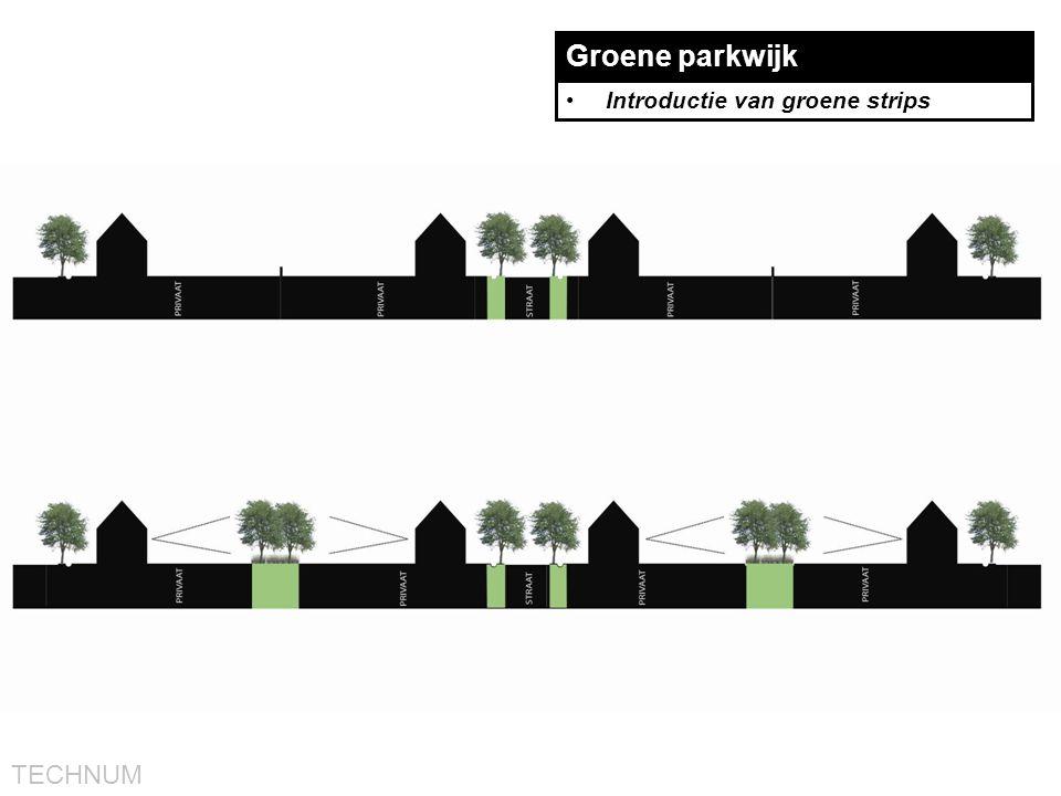 Groene parkwijk Introductie van groene strips