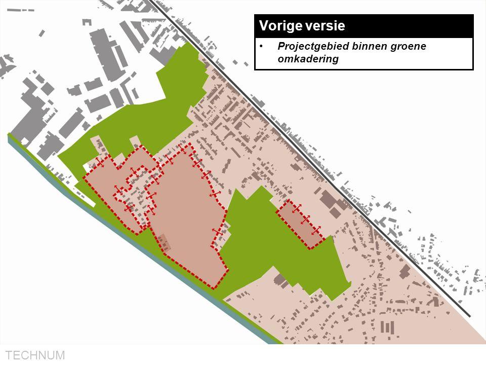 Vorige versie Projectgebied binnen groene omkadering