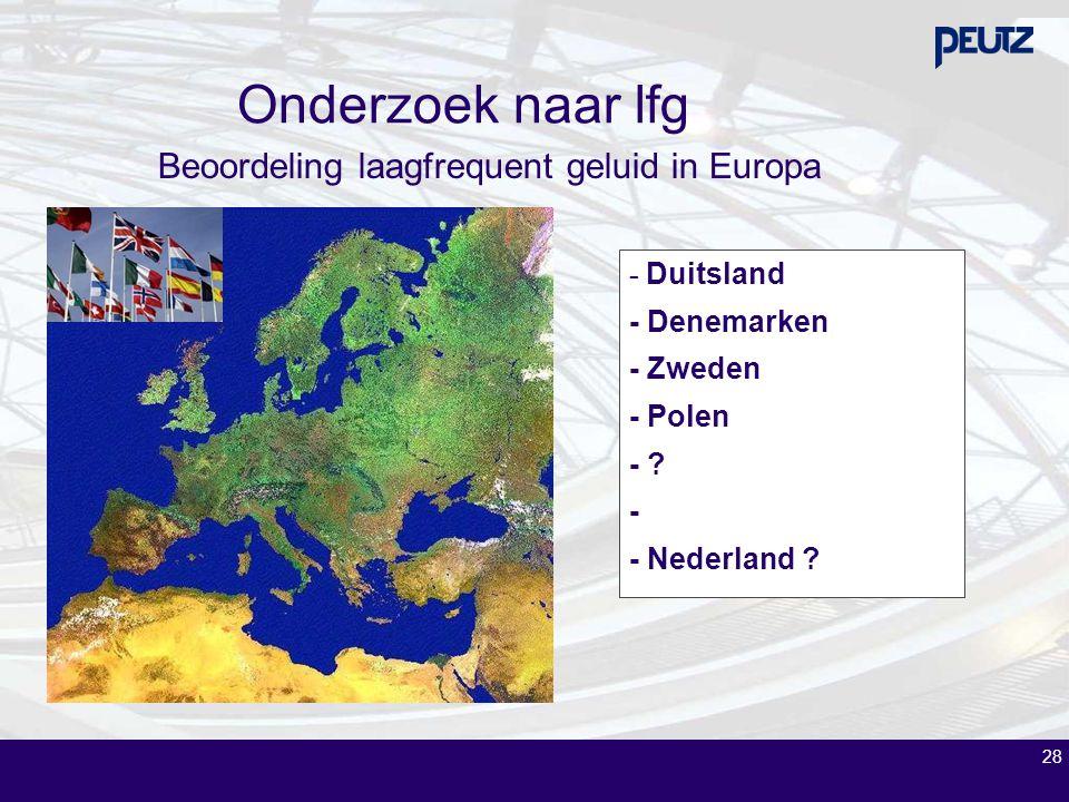 Beoordeling laagfrequent geluid in Europa