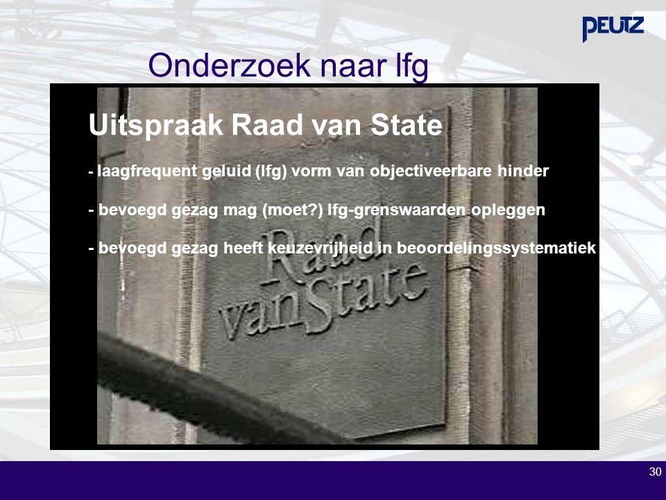 Onderzoek naar lfg Uitspraak Raad van State