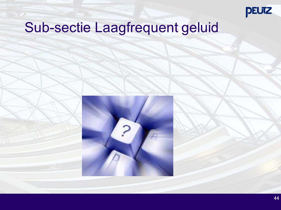 Sub-sectie Laagfrequent geluid