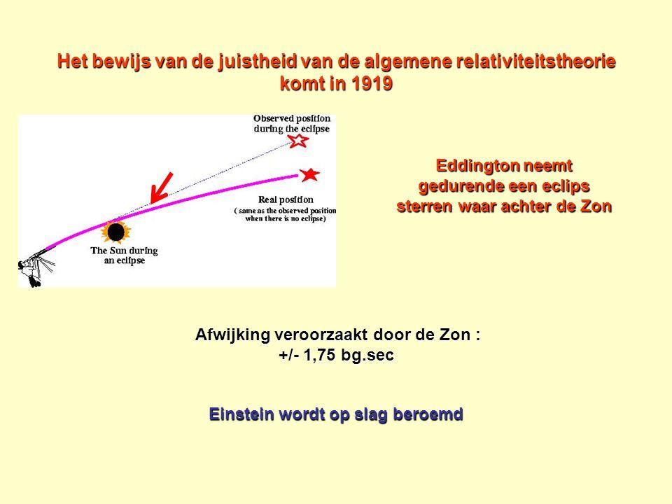 Het bewijs van de juistheid van de algemene relativiteitstheorie komt in 1919