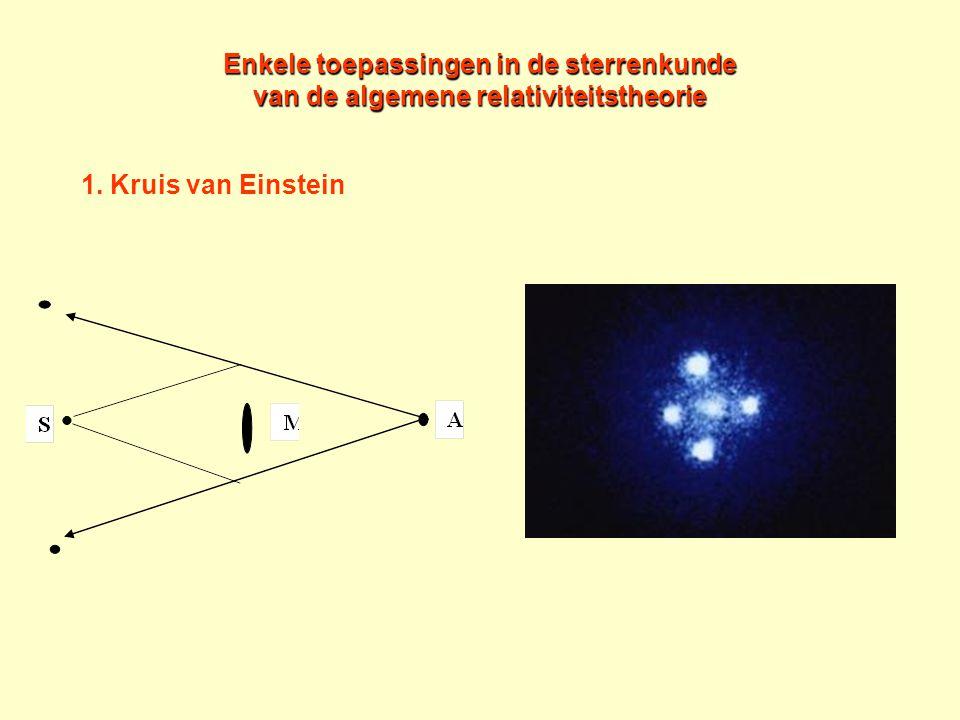 Enkele toepassingen in de sterrenkunde van de algemene relativiteitstheorie