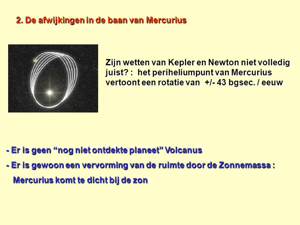 2. De afwijkingen in de baan van Mercurius