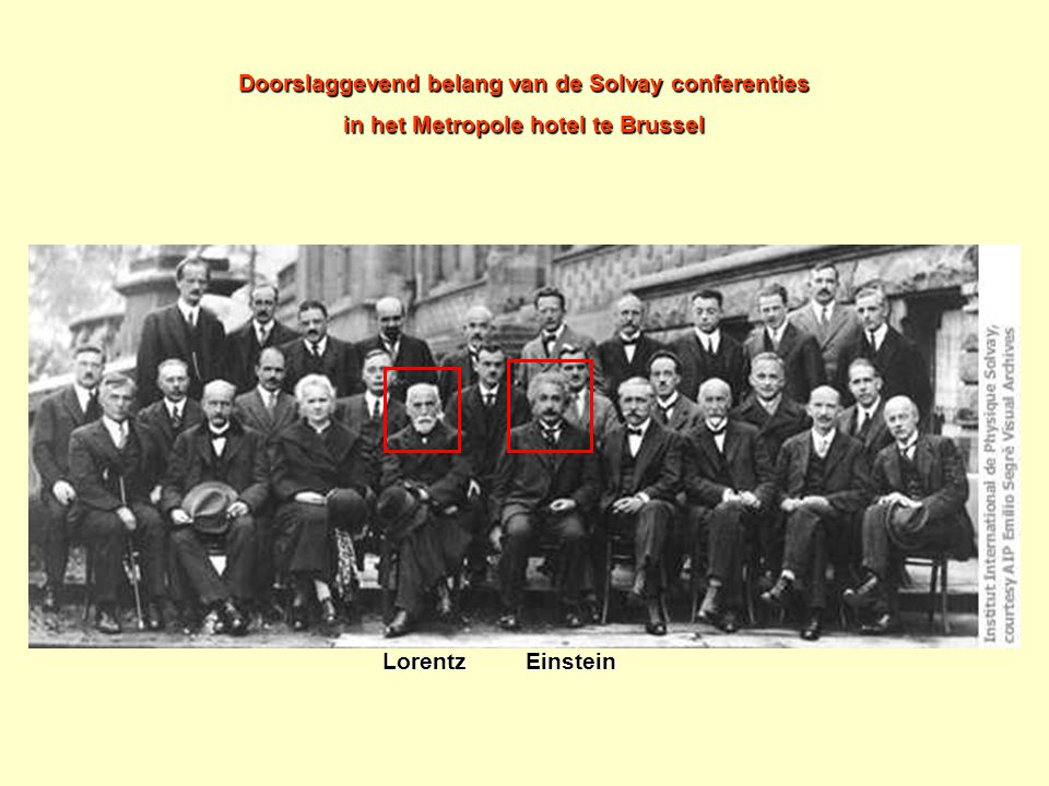 Doorslaggevend belang van de Solvay conferenties