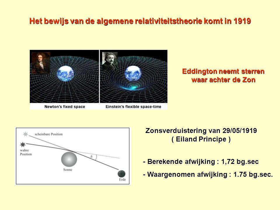 Het bewijs van de algemene relativiteitstheorie komt in 1919
