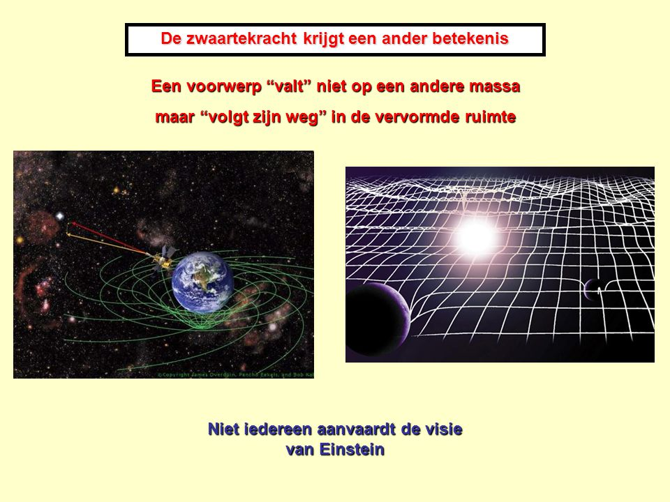 De zwaartekracht krijgt een ander betekenis