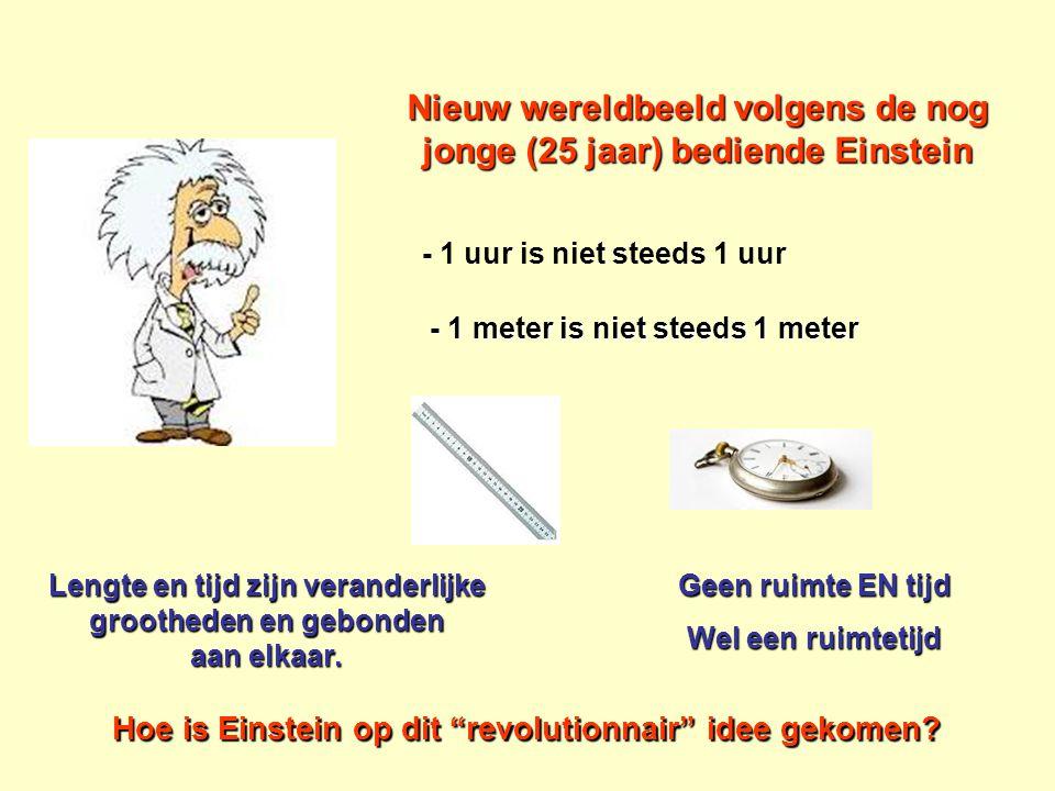 Nieuw wereldbeeld volgens de nog jonge (25 jaar) bediende Einstein