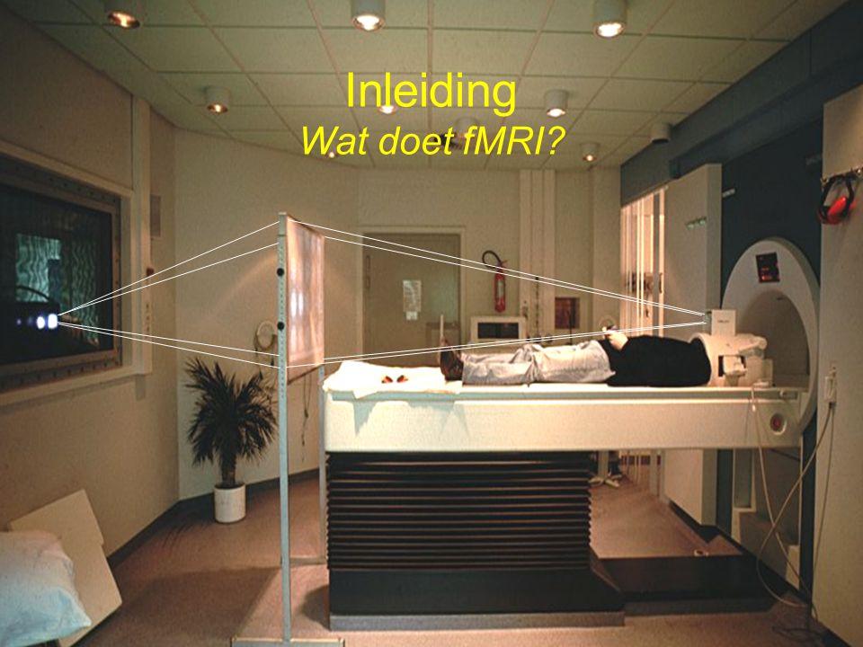 Inleiding Wat doet fMRI