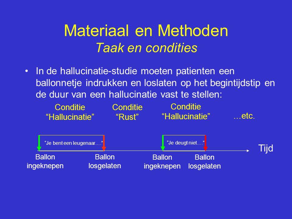 Materiaal en Methoden Taak en condities
