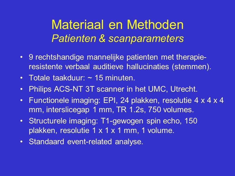 Materiaal en Methoden Patienten & scanparameters