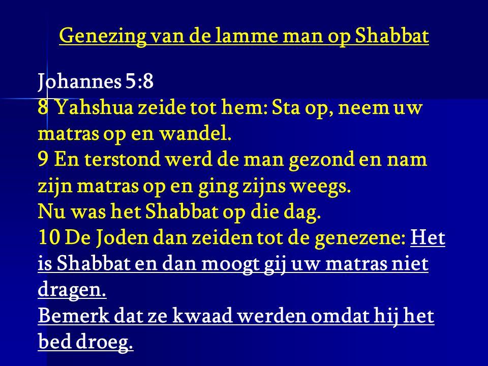 Genezing van de lamme man op Shabbat